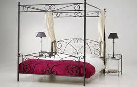 fer forgé chambre coucher lit fer forge baldaquin maison design wiblia com