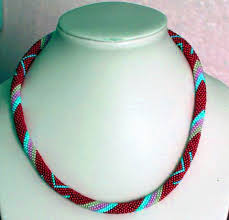 bead rope necklace images Free pattern for beaded crochet rope yuliana beads magic jpg