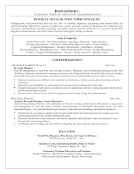 Resume Sample Bilingual Skills by Food And Beverage Manager Resume Examples Resume For Your Job