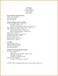curriculum vitae resume template for high apostle kc