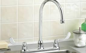 industrial kitchen faucets kitchen faucets lowes project source stainless steel 2handle deck