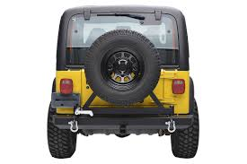 jeep classic rough country jeep classic full width rear bumper w tire carrier
