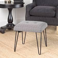 homepop mid mod square stool metal hairpin leg homepop