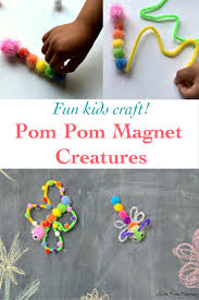 fun pom pom magnet creatures kids craft anika u0027s diy life