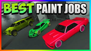 gta 5 online top 3 best rare paint jobs u0026 modded car color