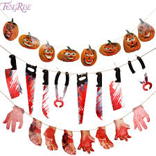aliexpress com buy fengrise horror spooky halloween banner flag