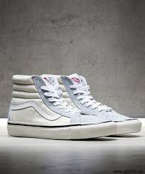 light blue vans mens men s sports shoes latest vans anaheim sk8 hi 38 dx trainer light