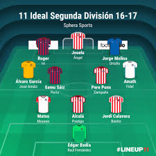 Segunda Division Table 11 Ideal Segunda División 16 17 Sphera Sports