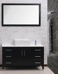 black toilet bathroom white porcelain toilet wooden frame mirror bathroom
