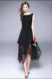 chiffon dress kettymore women beautiful irregular shape chiffon dress black