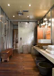 Rustic Bathrooms Designs by Rustic Bathroom Sink Designs Brick Accent Walls 2 Wood Vanity Top
