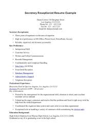 Job Description Examples For Resume by Job Secretary Job Description Resume