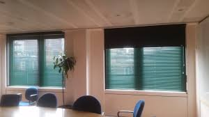 aluminium venetian and blackout box blinds for meeting room