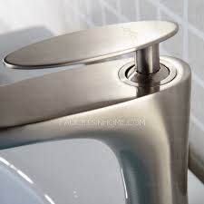 Single Handle Bathroom Sink Faucet by Brushed Nickel Copper Single Handle Bathroom Sink Faucet
