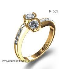 model cincin diamond cincin emas r 004 cincin kawin center contoh cincin nama