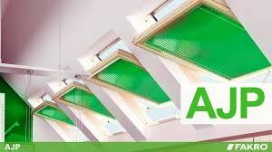 fakro roof windows ajp venetian blind youtube