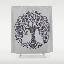 Silver Shower Curtains Celtic Shower Curtains Society6