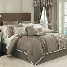 cool comforter sets with elegant gray floral pattern design for
