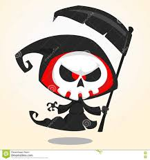 cute halloween skeleton clip art cute cartoon grim reaper with scythe isolated on white cute