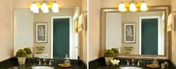 Framed Mirrors For Bathroom How To Frame A Bathroom Wall Mirror Juracka Info