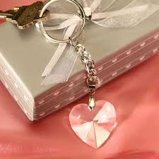 nice key rings images Chrome key chain with crystal heart nice price favors jpg