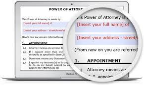 power of attorney form legal123 com au
