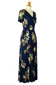 junior size flowers of the prairie in navy kimono style dress