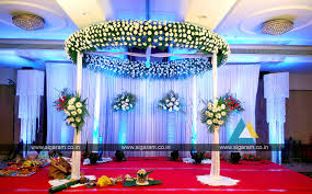 reception and wedding stage decoration at accord hotel puducherry