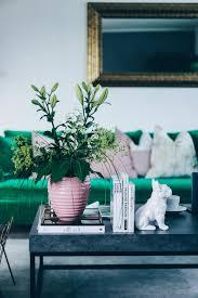 Wohnzimmer Deko Inspiration Unsere Neue Wohnzimmer Einrichtung In Grün Grau Und Rosa