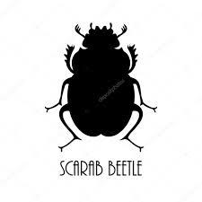 vector black beetle egyptian symbol lady bug logo template