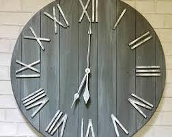 Home Decor Clocks Large Wall Clock Etsy