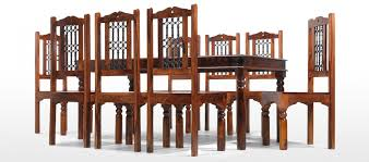 jali sheesham 200 cm thakat dining table and 8 chairs quercus living jali sheesham 200 cm thakat dining table and 8 chairs