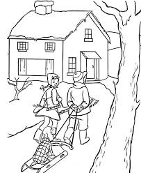 vintage christmas scene coloring page allfreechristmascrafts com