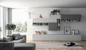 Modern Bedroom Wall Unit Contemporary Living Room Wall Unit Lacquered Wood Slim Dall