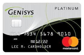 prepaid credit cards no fees mastercard rewards credit union credit cards genisys credit union