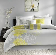 grey yellow duvet set home design ideas