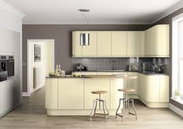Contemporary Plan Furniture Minimalist White Kitchen Cabinet Design With Gray Island