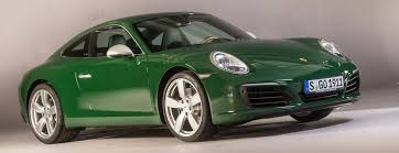 irish green porsche zuffenhausen sports car icon is a millionaire production