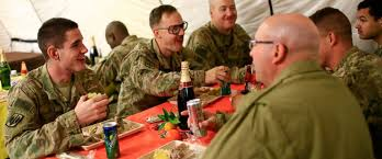 thanksgiving in mosul us troops enjoy turkey near stronghold