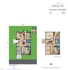 floor plans celebrity villas residential project in hyderabad