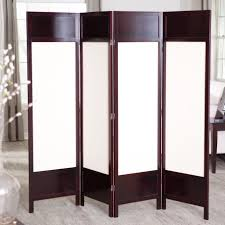 Folding Room Divider Rectangle White Folding Room Divider With Brown Wooden Frame And