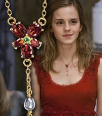 hermione necklace images Hp hermione 39 s red crystal necklace 1 1 replica the movie store jpg