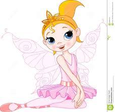 cute fairy ballerina sitting stock photography image 20090152