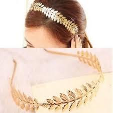 grecian headband chic leaves girl hair women gold grecian headband crown band