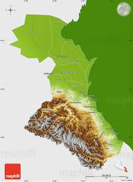 Russia Physical Map Physical Map by Physical Map Of Republic Of Dagestan Single Color Outside