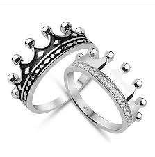 king and crown wedding rings engagement ring for us https www etsy es listing 263073882