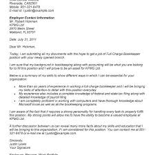 full charge bookkeeper cover letter basic full charge bookkeeper