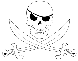 collection of 25 pirate skull and crossed sword designs