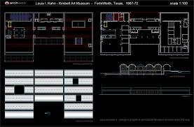 museum floor plan dwg louis kahn kimbell art museum 2d louis kahn pinterest