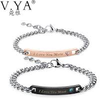 jewelry bracelet charms images V ya luxury couple bracelets i love your most i love your more jpg